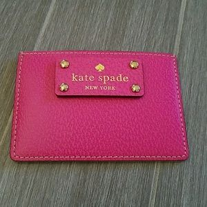 New w/tag Kate spade pink leather card bolder